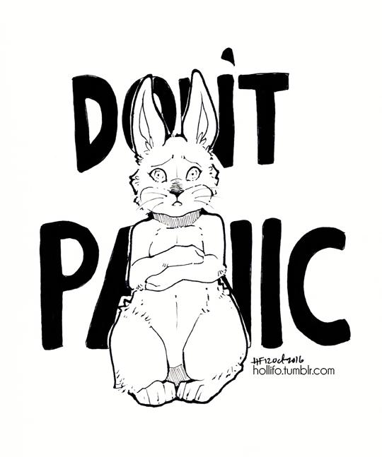 DON'T PANIC by nekophoenix