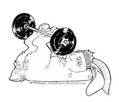Gym Bunny by nekophoenix