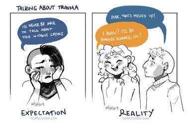 Talking About Trauma by nekophoenix