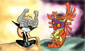 The Legend of Zelda: Midna and Skull Kid