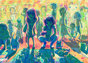 Katzen, Night Bazaar and You by Raindropmemory