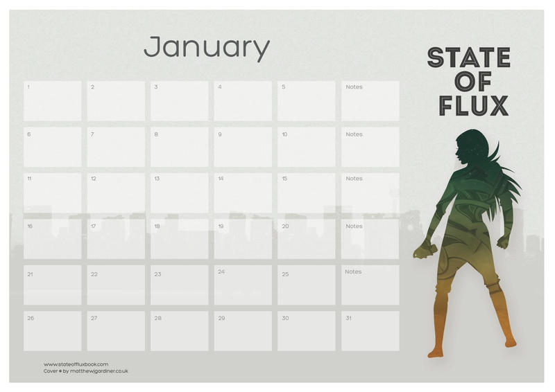 Flux Printable Calendar by use-the-force