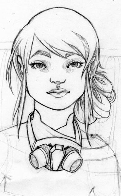 Trinai in pencil by use-the-force
