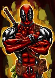 Deadpool digital painting by Jojo66punt0