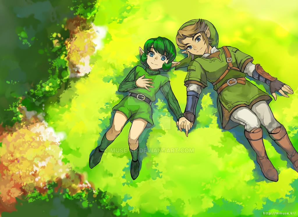 Link and malon the legend of zelda and the legend of zelda ocarina of time ef ea eaf PIC