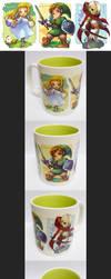 zelda ss mug cup by muse-kr