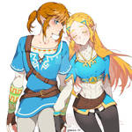 Breath of the Wild link and zeld