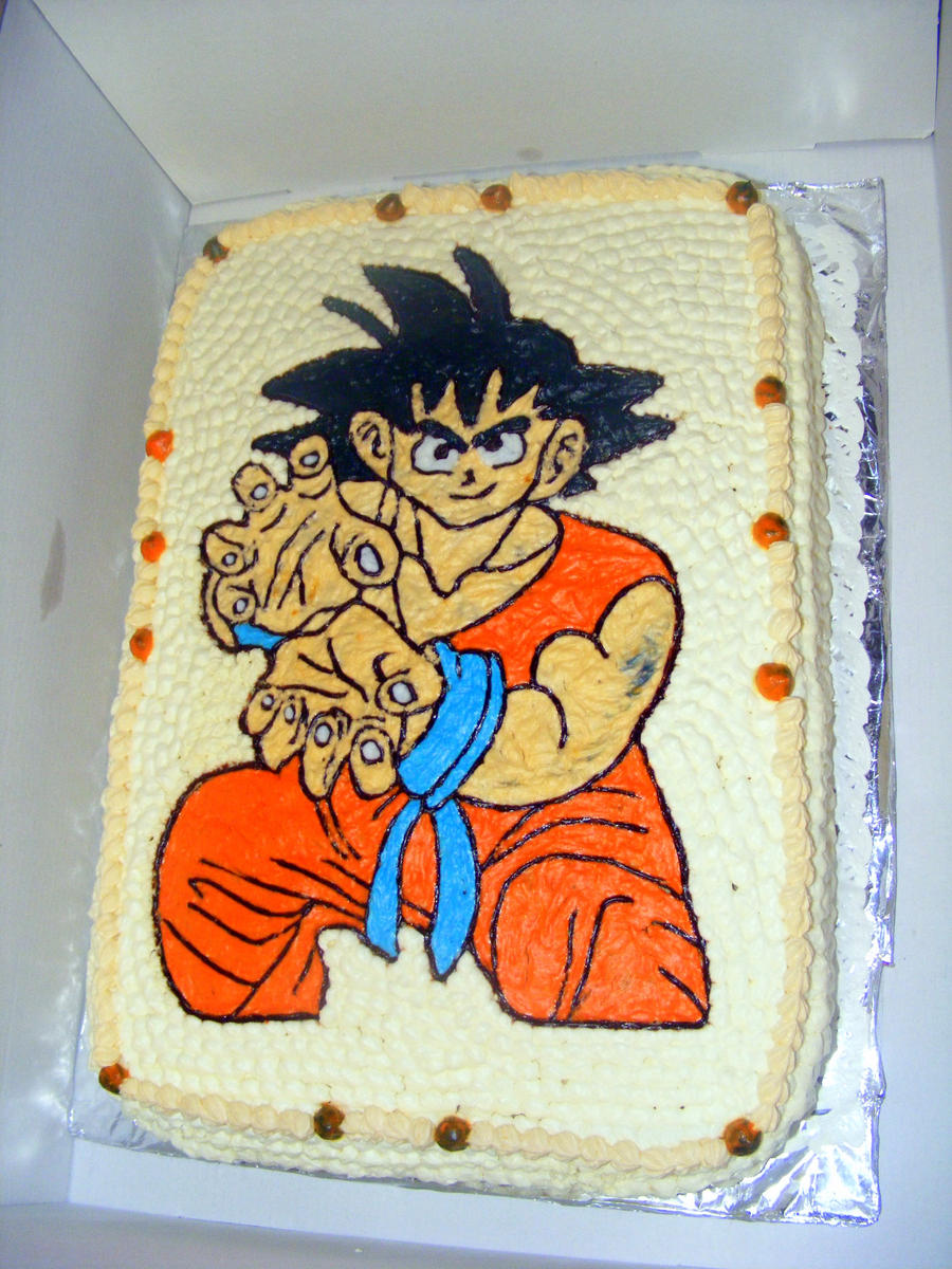 Dragon Ball Z Cake Decorations Easter Cake Chocolate Covered Fondant