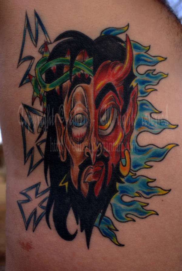 Good vs. Evil Tattoo by edizzi