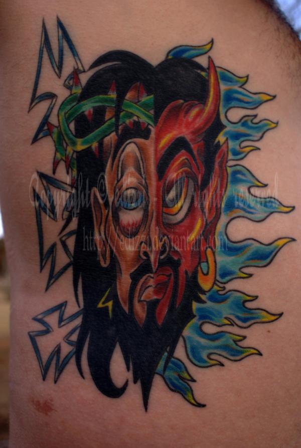 Good vs. Evil Tattoo by edizzi
