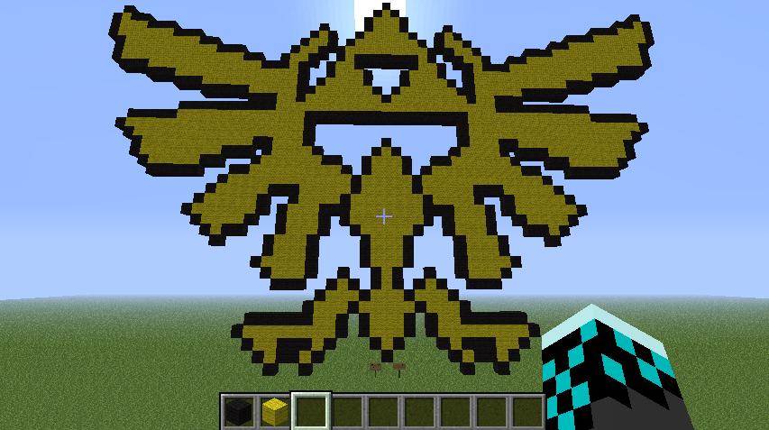 Hylian Crest Minecraft Pixel Art By Enjoytheride201