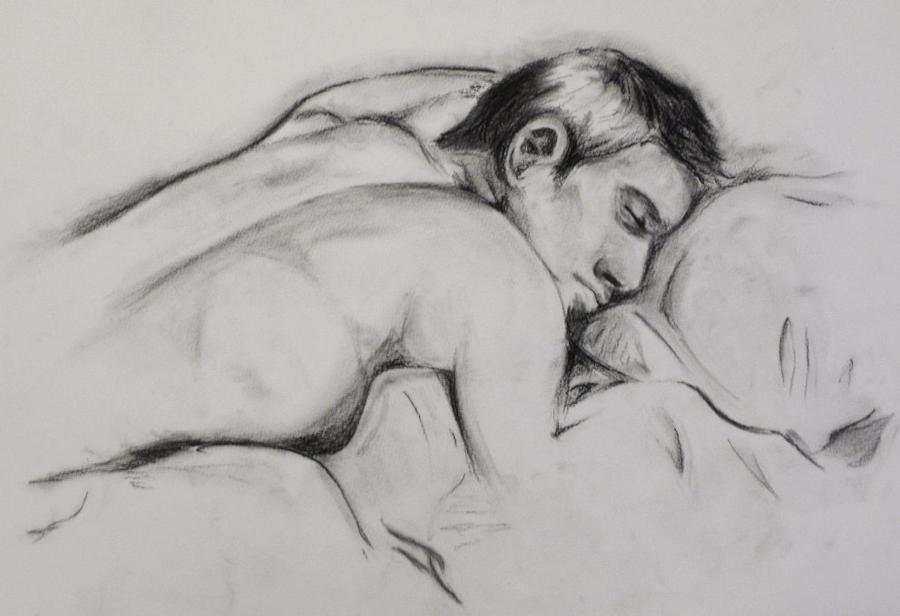 Homme endormi by felona