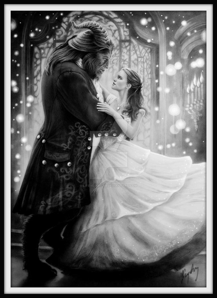 Beauty and the Beast - Graphite Version by Life-Is-Art-88