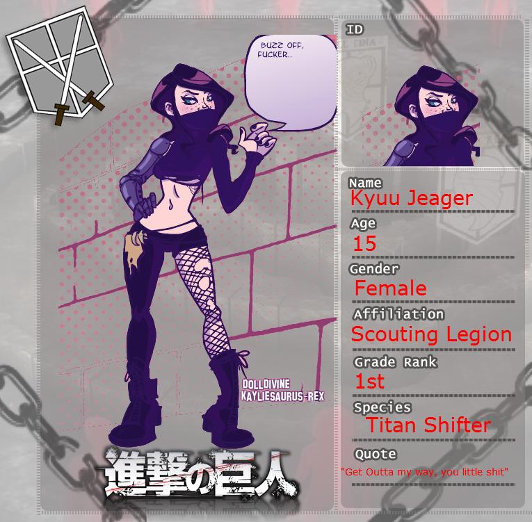 Attack On Titan OC: Kyuu Jeager by JessieTategami