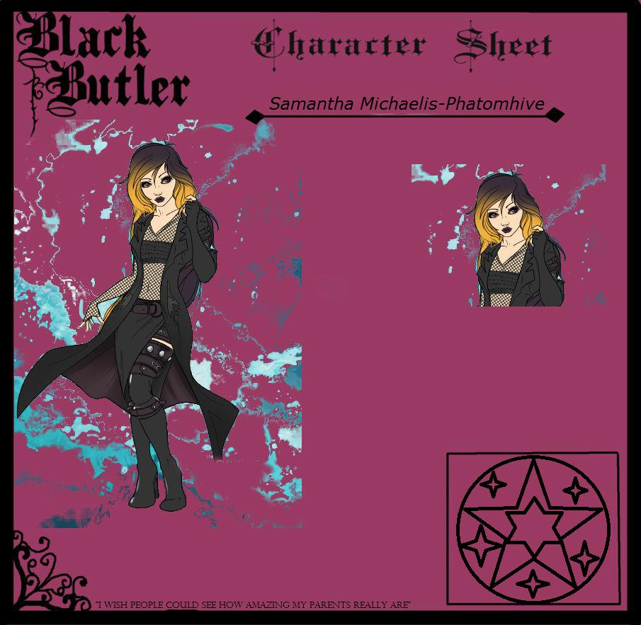 Black Butler OC: Samantha Michaelis-Phantomhive by JessieTategami