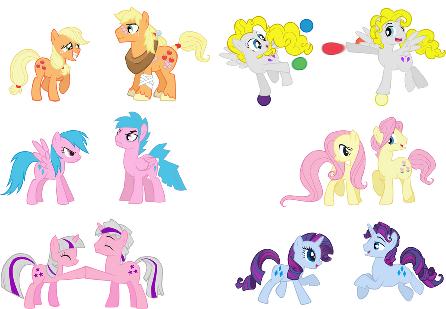 MLP Mane 6 G1 and Genderbend by maddiethehedgie