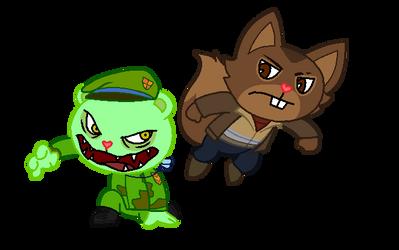 GTA IV x HTF - Niko vs Fliqpy by maddiethehedgie