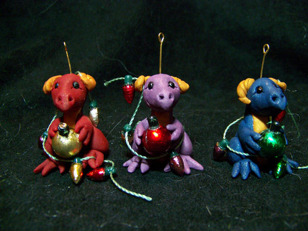 dragon christmas ornaments by AmandaKathryn on DeviantArt