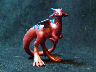 tiny red dragon 2 by AmandaKathryn