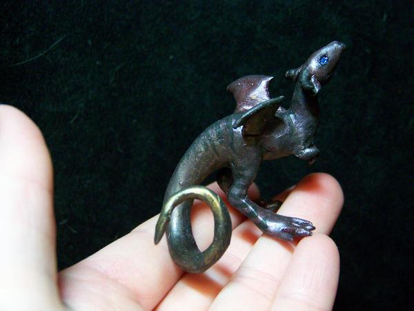 """curious"" tiny dragon by AmandaKathryn"