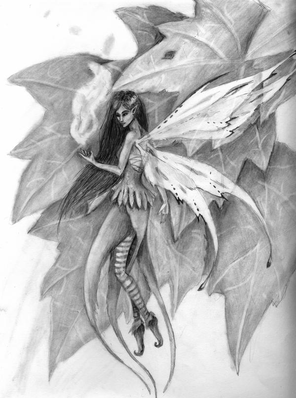 Pencil Art Photo: Fairy Pencil Drawing