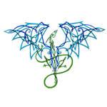 celtic knot dragon blue by AmandaKathryn