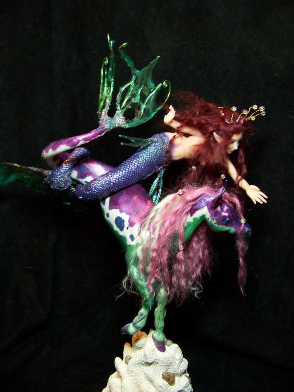 mermaid and sea horse by AmandaKathryn