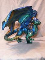 ooak blue dragon 2 by AmandaKathryn