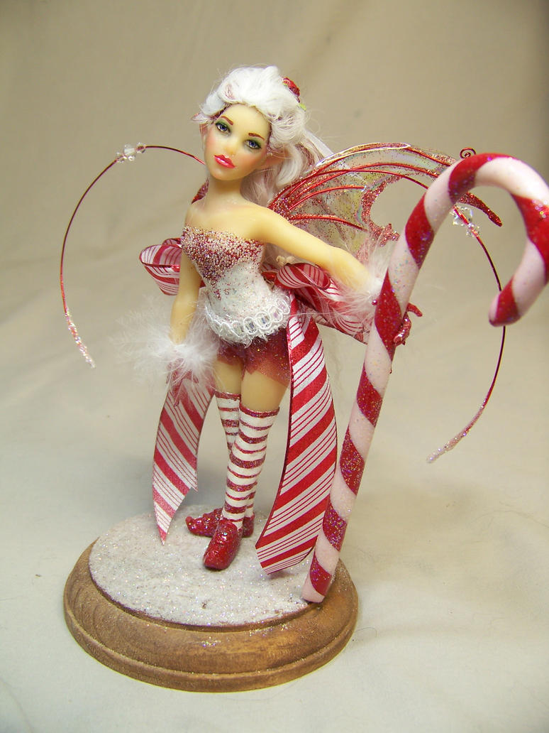 Pepper Mint the candy cane fairy by AmandaKathryn