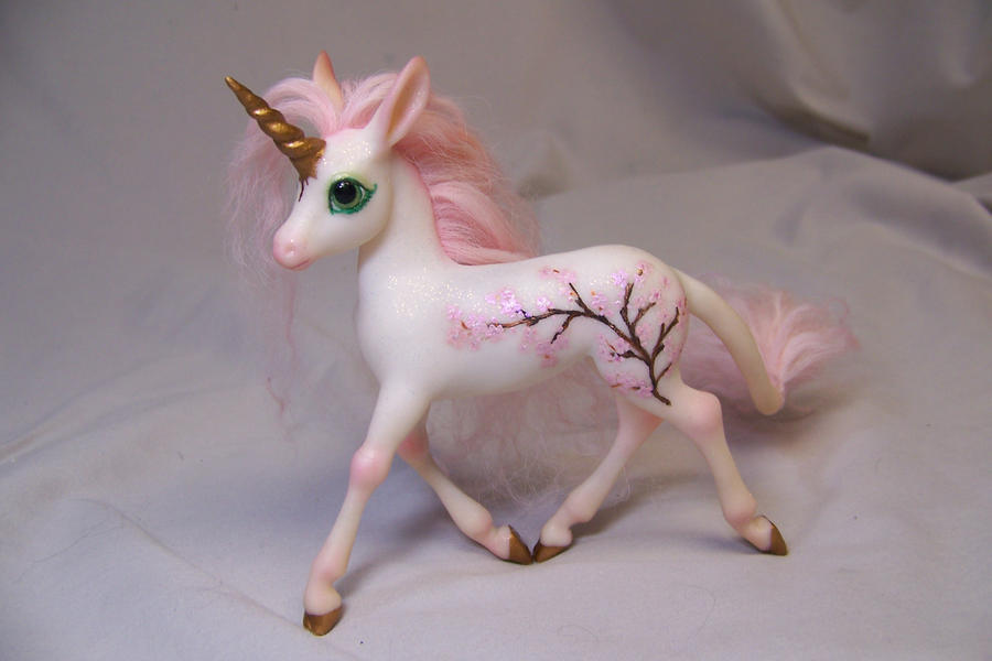 'Cherry Blossom' unicorn pony by AmandaKathryn
