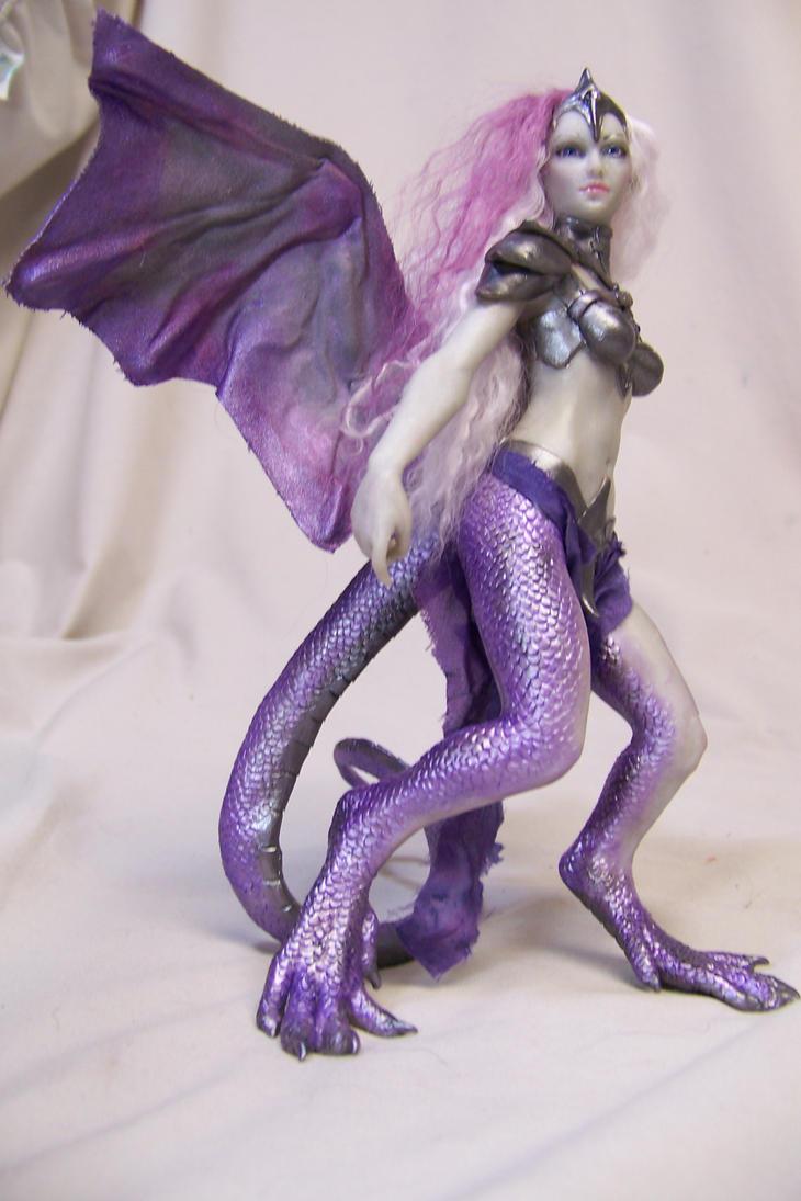 purple dragon fairy by AmandaKathryn