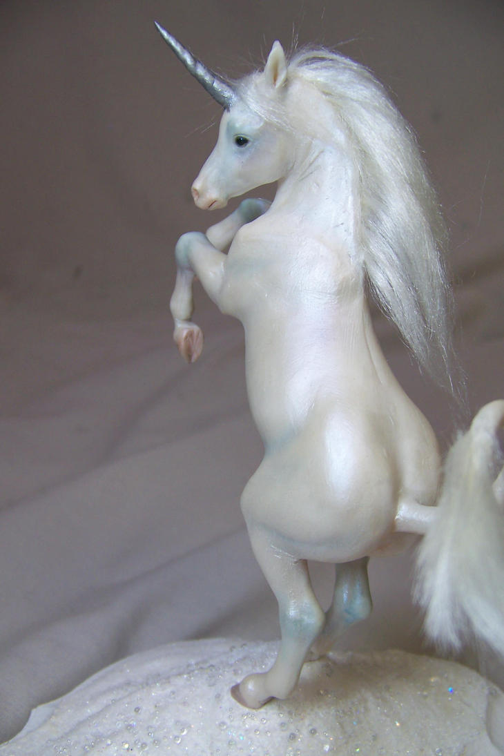 'frost' rearing unicorn sculpt by AmandaKathryn