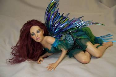Cyan ooak fairy