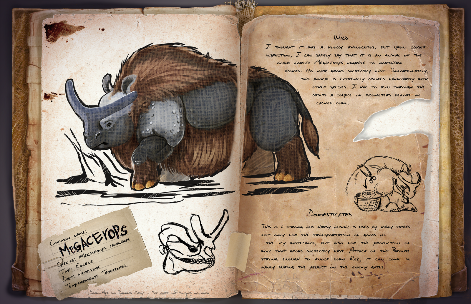 Dossier Megacerops By DragonAsis On DeviantArt