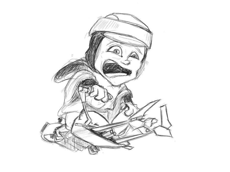 WiP - Luke on speederbike  by B2DaRice