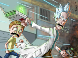 RUN MORTY!!  WE'RE IN A DRAWING!!