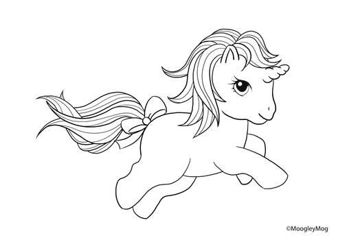 MLP Lineart 2 Baby Unicorn
