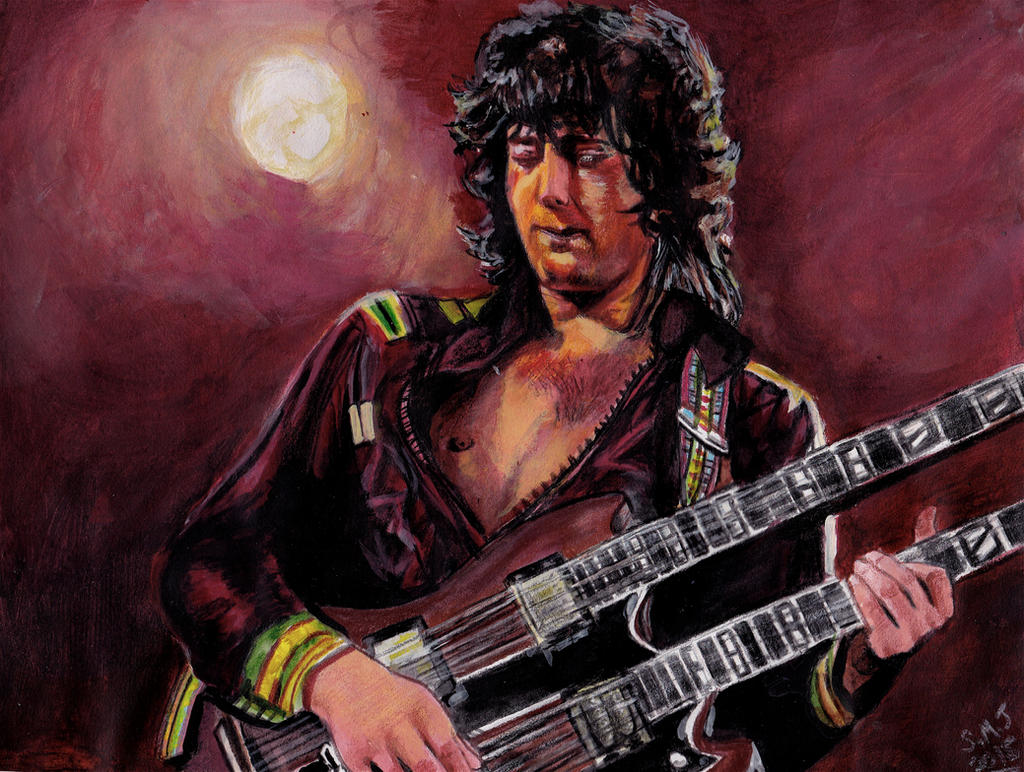 Led Zeppelin's Jimmy Page by smjblessing