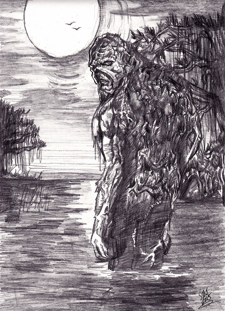 Swamp Thing sketch by smjblessing