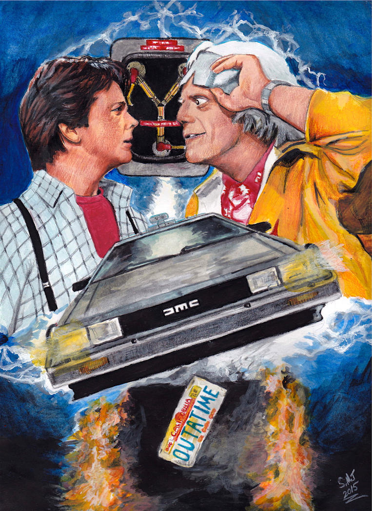 Back to the future 30th anniv 1985 2015 by smjblessing on