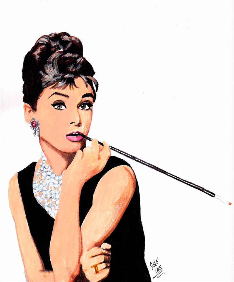 Audrey Hepburn by smjblessing