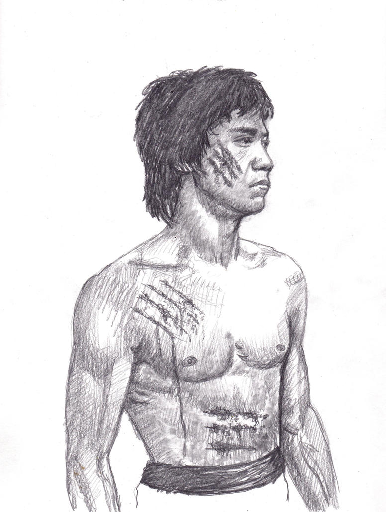 Bruce Lee pencil sketch by smjblessing