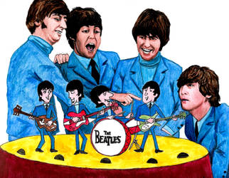 Beatles Cartoon Series - 50th anniversary by smjblessing
