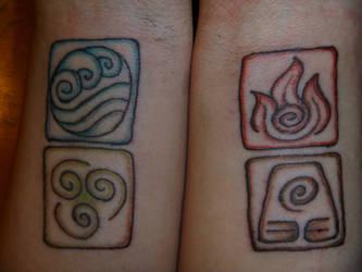 Avatar Elements Tattoo