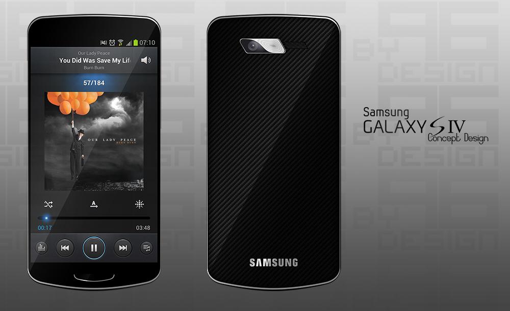 Samsung Galaxy s4 concept tasarımı