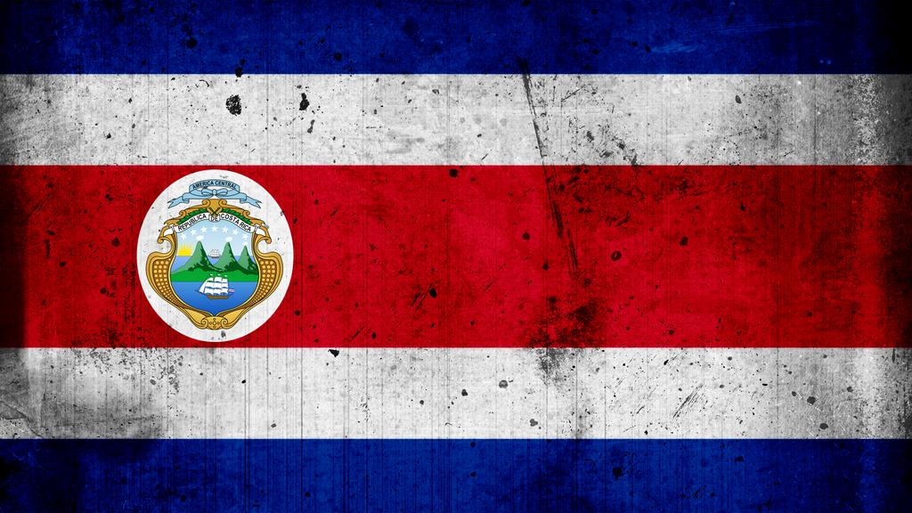 Costa Rica Grunge Flag by Francr2009