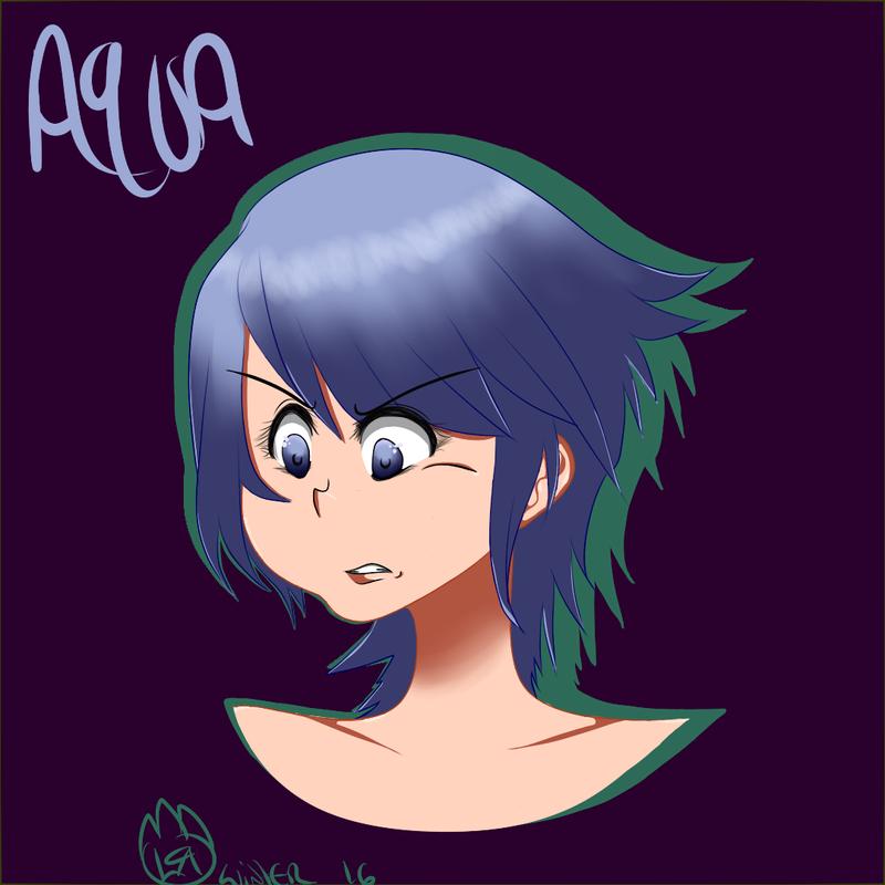 Aqua Headshot by Lunalunahai