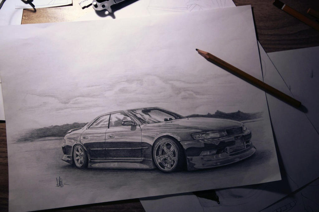 Toyota Mark 2 Draw By Ad1o One ...