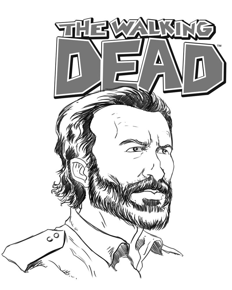 Rick Grimes beard version by rubenslima