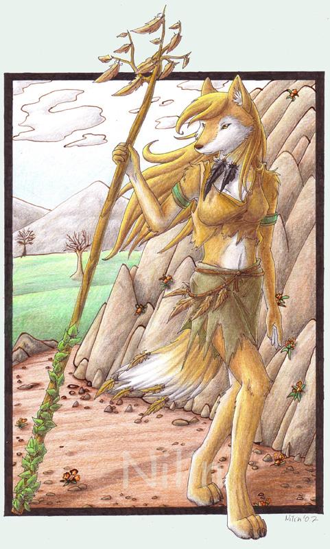 Wolf druid by Anthro-Fantasy-club